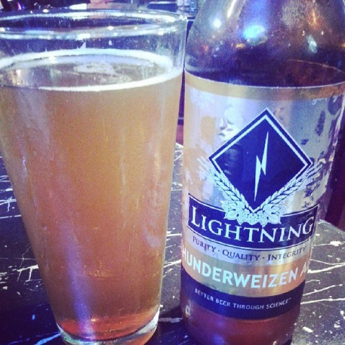 After work beer is the best. And it's called Lightning too.