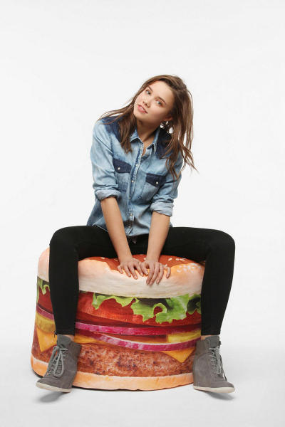 (via Hamburger Bean Bag - Urban Outfitters)