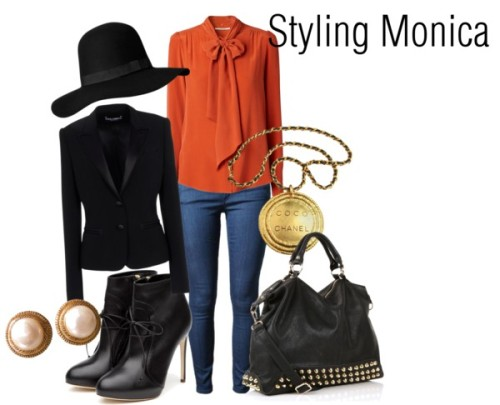 Untitled #622 by stylingmonica featuring a black shoulder bag