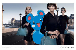 pokexfashion:  louis vuitton alma bag campaign 2013; daria strokous, karlie kloss, jac jagaciak & azurill