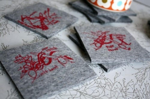 Coasters for Knitters red ink only by girlscantell on Etsy