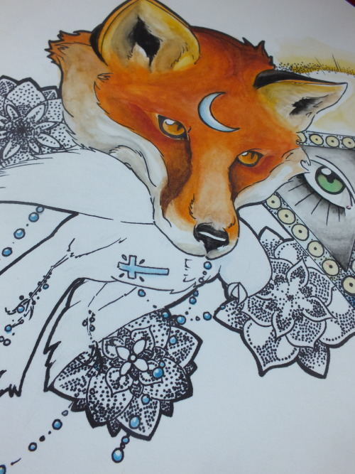 just a wee teaser of my water colour fox