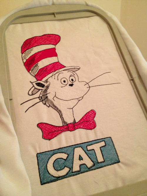 Just finished my first full picture embroidery. I'm hosting a Dr. Seuss party and this will become a cushion. I have others to make. I love it!!!!!