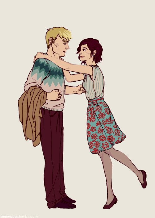 berendoes:  Quick doodle of late 1940s Pete and Lu because that gifset made me miss Narnia.