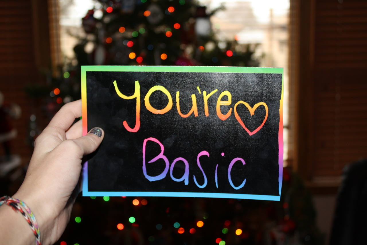 m1lky-w4ys:  stfusofia:  m-onk3ys:  You're Basic  ** your   you tried. ^