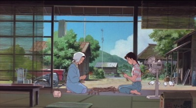 love-and-radiation:  So, as part of the Studio Ghibli retrospective that's been happening over the holiday season, we went to Only Yesterday, well, yesterday. It was certainly interesting, a quite funny in places, but feels far inferior to anything that Miyazaki wrote (he only produced) and is basically propaganda for people in Tokyo to move to the countryside. Apparently that was a thing that was happening in Japan around the time the film was made. It's cute, but overly simplistic and contains a fair number of speeches about the benefits of organic farming, which teeters between being insufferable and being hilarious. It all felt pretty inevitable—woman from the city is haunted by memories from her childhood, goes to the countryside to work on a farm from the summer because she's always longed to have a connection to the countryside, meets a boy, leaves, comes back and realizes she doesn't want to go home again. I kind of wish it had stayed focused on her flashbacks to childhood, as those sequences were often great and quite honest.  Even with the downsides, I would still see this in a heartbeat.