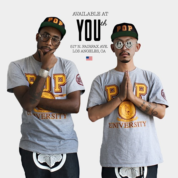@Poly3st3r x @mookeebyyuske #POPUniversity capsule collection release at @YOUthFairfax tomorrow! #PullUp 11am - 7pm! | 517 N. Fairfax Ave | #WestSideWineSippers