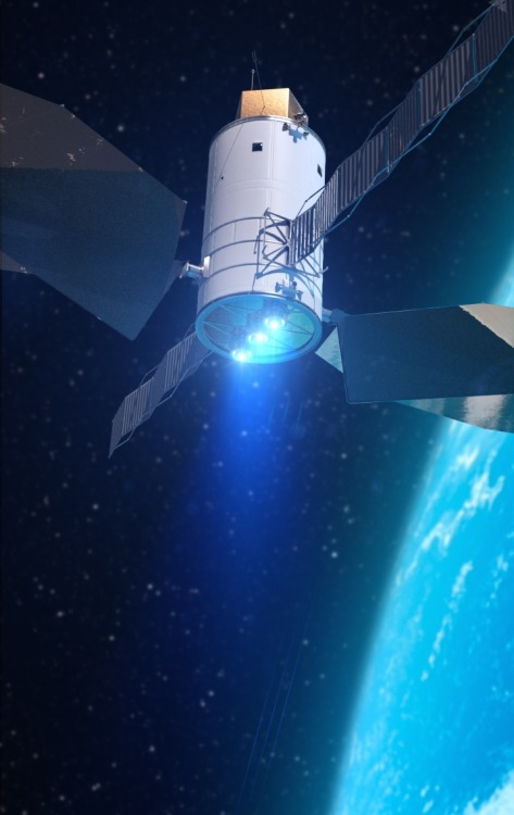 crookedindifference:  Solar Electric Propulsion Using advanced Solar Electric Propulsion (SEP) technologies is an essential part of future missions into deep space with larger payloads. The use of robotics and advanced SEP technologies like this concept of an SEP-based spacecraft during NASA mission to find, rendezvous, capture and relocate an asteroid to a stable point in the lunar vicinity offers more mission flexibility than would be possible if a crewed mission went all the way to the asteroid.  NASA's asteroid initiative, announced as part of the President's FY2014 budget request, integrates the best of NASA's science, technology, and human exploration capabilities and draws on the innovation of America's brightest scientists and engineers. It uses current and developing capabilities to find both large asteroids that pose a hazard to Earth and small asteroids that could be candidates for the initiative, accelerates our technology development activities in high-powered SEP and takes advantage of our hard work on the Space Launch System and Orion spacecraft, helping to keep NASA on target to reach the President's goal of sending humans to Mars in the 2030s.