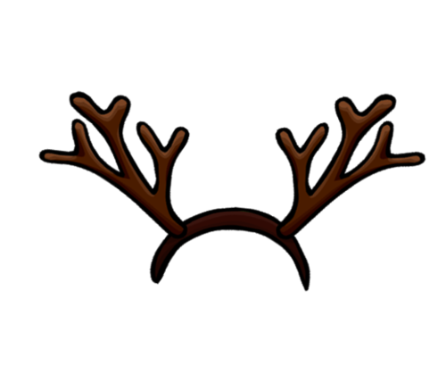 Transparent Christmas Antlers