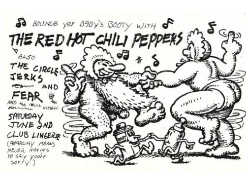 TODAY marks 30 YEARS since the Red Hot Chili Peppers played their first tour concert at the Rhythm Lounge in Hollywood on February 13th, 1983! Above is the official flyer from their show at Club Lingerie in Hollywood on June 2nd, 1984. Please use the hashtag #30YearsRHCP if you're tweeting about their 30th Anniversary. :)