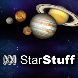 abcstarstuff:  Listen to it on the best ABC radio stations across Australia. On Science 360 Radio in the United States. On line as audio on demand and as a podcast at: http://www.abc.net.au/science/starstuff or as a free download from iTunes  This week's show…..  Bubbles could solve the Dark Matter mystery Monster outflows of charged particles stretching far above and below the centre of the Milky Way, could contain tantalising evidence of mysterious dark matter. Although it constitutes 84 per cent of all matter in the cosmos, dark matter has never been seen, only inferred from its effects on the visible universe.  Scientists spot birth of giant planet Astronomers have captured the first direct image of a brand new planet being born in a distant solar system.  The embryonic new world, which will eventually become a gas giant like Jupiter, is orbiting a young star 335 light years away.  Two comets streak across southern skies The second of three comets bright enough to see with the naked eye this year, has just made its closest approach to Earth. Comet Pan-STARRS together with Comet Lemmon can both be seen at the same time in the western sky just after sunset.   Catching a Dragon by the tail Mission managers breathe a sigh of relief as SpaceX's Dragon capsule successfully docks with the International Space Station after a potentially fatal glitch almost ended the flight. SpaceX is the first private company to fly supplies to the orbiting outpost.   Space Station crash A main computer crash aboard the International Space Station puts the orbiting outpost in a communications blackout with Earth for three hours.    Progress launch  The Rapid Rendezvous flight profile brings Russian Progress cargo ship to the space station only six hours after liftoff.  Arianespace Soyuz launch   Europe and Russia team up to launch a fleet of new communications satellites.  New Ariane 5 heavy lift record The European Space Agency's Ariane 5 heavy lift launcher sets a new record for carrying a payload to geostationary orbit.  Mars rover crashes NASA's Mars rover Curiosity has suffered a computer glitch, forcing mission control to switch to a backup system.   Humans to Mars by 2018 A private company wants to send humans to Mars in just five years time. The world's first space tourist Dennis Tito is behind the project which would see a couple preferably married undertake the 501 day mission .    StarStuff is broadcast weekly on the best ABC Radio stations in Australia, On the National Science Foundation's Science 360 Radio across the United States. As audio on demand and as a free podcast at….http://www.abc.net.au/science/starstuff