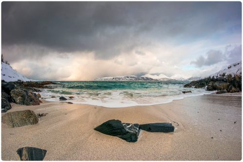 Found a beach Near Tromso in Norway. Arctic circle. by Murat Erdemsel