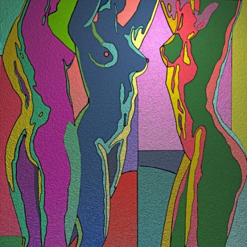 rippinghamart:  'Three Stretching Nudes' by Stephen Conroy