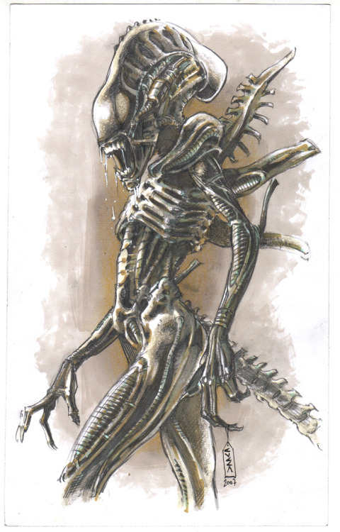 fuckyeahxenomorphs:  Alien sketch by ~cuccadesign