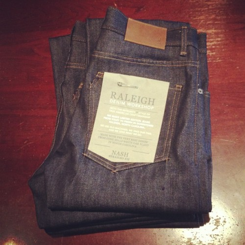 Raleigh Denim is back in stock in-store and online | Great made in America denim from come mills in North Carolina | #RaleighDenim #MadeInAmerica #RawDenim  (at denim bar)