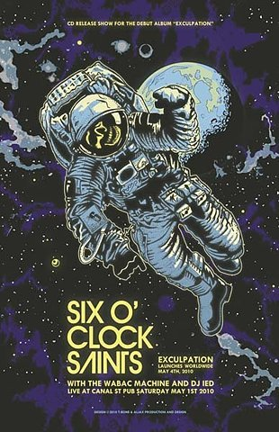 ffffffound:  GigPosters.com - 6 Oclock Saints - Wabac Machine - Dj Ied