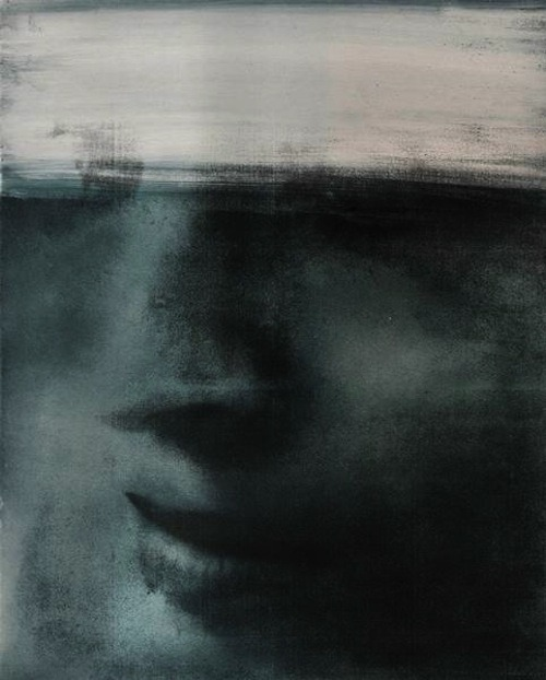 blue-voids:  Berit Myrebøe - Face, 2008transfer painting on aluminum