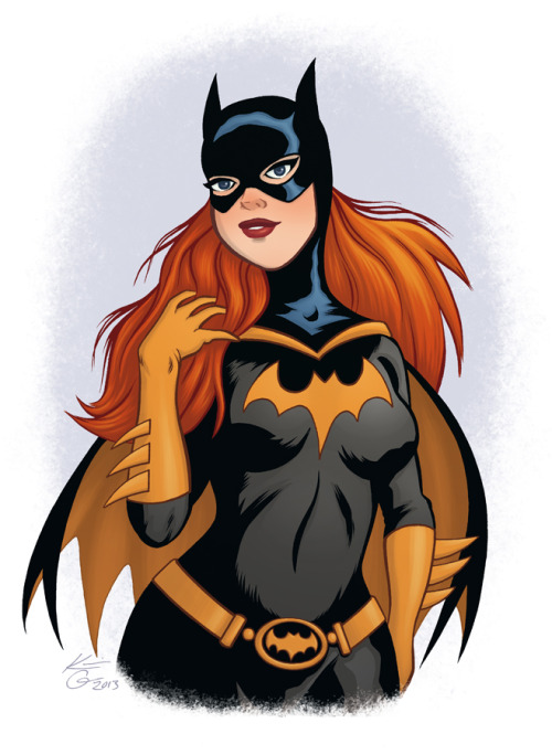Here's a pin-up illustration, of Batgirl, I finished over the weekend.