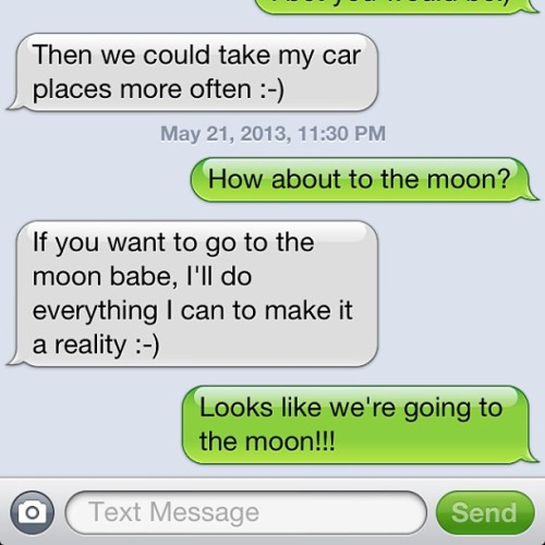 Looks like we're going to the  moon! @timothyhunt93 😘