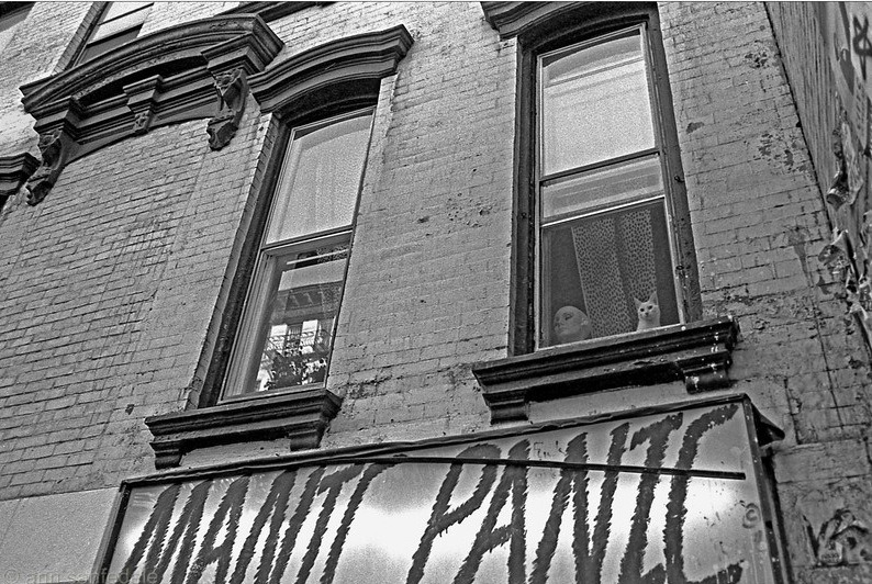 matthewnewton:  From Ann Sanfedele's East Village Back in the Day. [via Jeremiah's Vanishing New York]