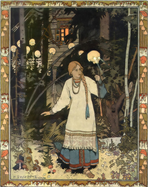 "gaglioffo:  Ivan Bilibin, illustration from ""Vasilisa the Beautiful"", 1899"