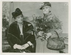 In 1940, Alice Bowen (right) was the oldest mother to attend the World's Fair Mother's Day ceremonies. Then 93, Bowen had seven children, 17 grand-children, four great-grandchildren, and three great-great grandchildren! NYPL wishes all the mothers out there a Happy Mother's Day! [Image: NYPL Digital Gallery.]