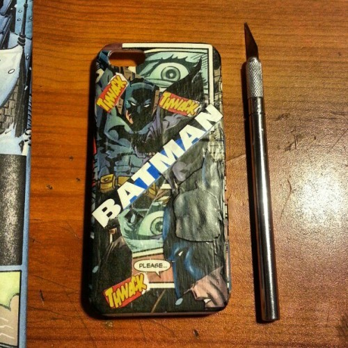 New Batman case all ready and good to order, check it out on my etsy shop.  http://www.etsy.com/shop/SchtuffShop  #etsy #batman #thedarkknight #nofilter #iphone5 #case #comics #ig #igers #art