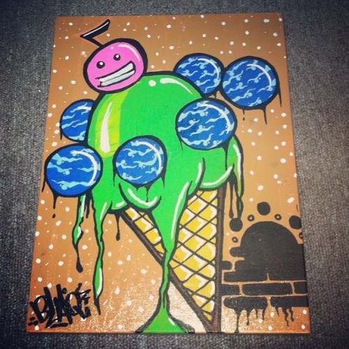 """Ice Cream Makes the World go Around"" #canvas"