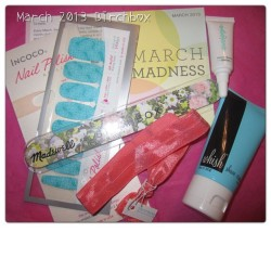 March 2013 #birchbox new #blogpost #blogger #beautybox #madwell #twistband #incoco #whish #beautyblogger