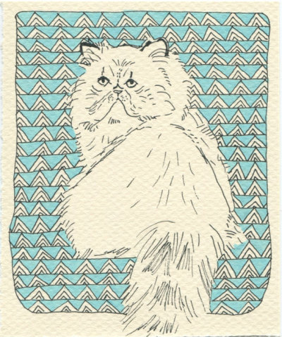 "$60Custom Cat PortraitKatie N.ink drawing5"" x 7"" make it mine"