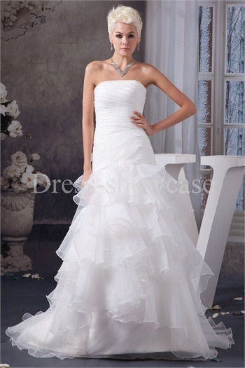 Beautiful Sleeveless Satin Zipper-back Wedding Dress http://www.Dress-ShowCase.com/Beautiful-Sleeveless-Satin-Zipper-back-Wedding-Dress-p20965.htmlView Post