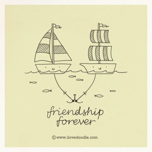 Friend-Ship Forever on Flickr.Doodle Everyday 381Website / Facebook / Twitter / Tumblr / Etsy