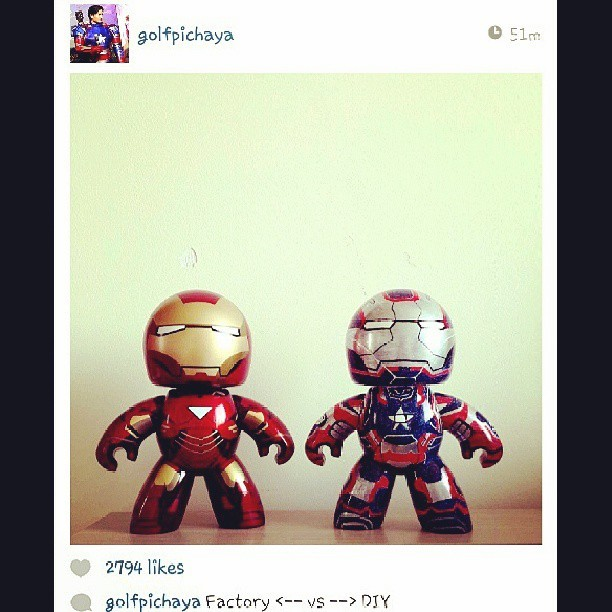 Someone would love these two on his desk. #ironman #toys #regram @briggsflores