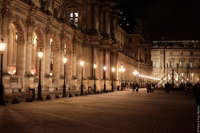 | ♕ |  Night at the Louvre - Paris  | by © Carin Olsson