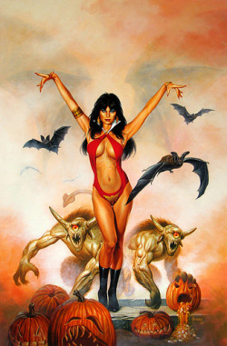 Vampirella. This is who I need to look like in November. There's a party, and I wanna go as her. She's my fitness idol, even though she's completely fictional.