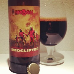 Smoglifter from #Brash. Imperial chocolate milk stout. #craftbeer #MAbeer. by coffee2code http://bit.ly/13P7QOf