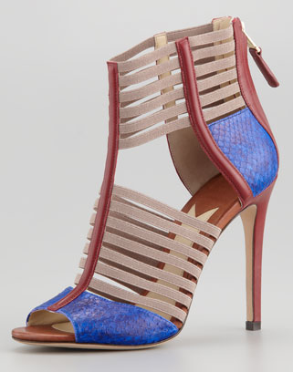 "B Brian Atwood ""Langden"" stretch cage sandal from spring/summer 2013 collection. Click here to buy."