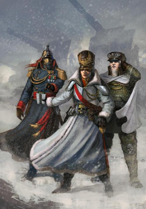 lexicanumwiki:  The Imperial Guard: http://wh40k.lexicanum.com/wiki/Imperial_guard#.UV9M7UrcCSo