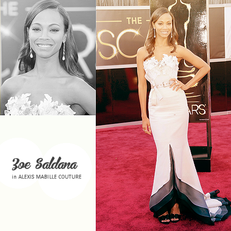 top 10 oscar dresses 07 | zoe saldana in alexis mabille couture
