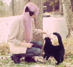 sempunia:  (2) dyed hair | Tumblr on We Heart It - http://weheartit.com/entry/61507817/via/Wiolett Hearted from: http://hipstershatesociety.tumblr.com/post/50472348060  #hair #pinkhair