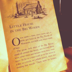 teachingliteracy:  Little House on the Prairie (by lharsma)