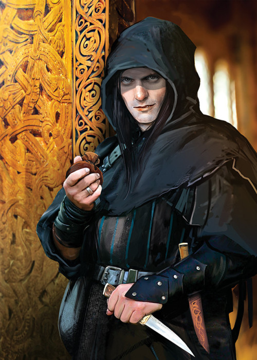 rogues gallery male human thief knife