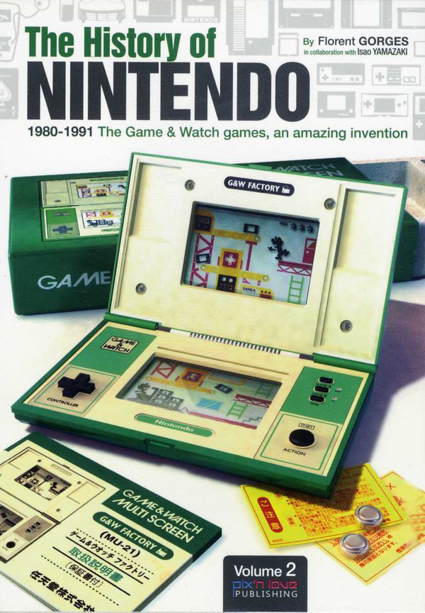 "it8bit:  The History of Nintendo (Vol. 2) ""1980-1991:The Game and Watch Games, An Amazing Invention!"" The second volume of The History of Nintendo is dedicated entirely to the fabulous Game & Watch games, a famous line of electronic LCD games which was very popular in the early 80's. You'll find the detailed and exclusive chronicles of how this invention, which revolutionized the whole entertainment industry, came to be. You'll find out about the difficulties encountered during their development, the secrets behind this new concept at the time and dozens of unexpected documents.  Available for $40(USD) @MyComicShop Related: The History of Nintendo (Vol. 1)"