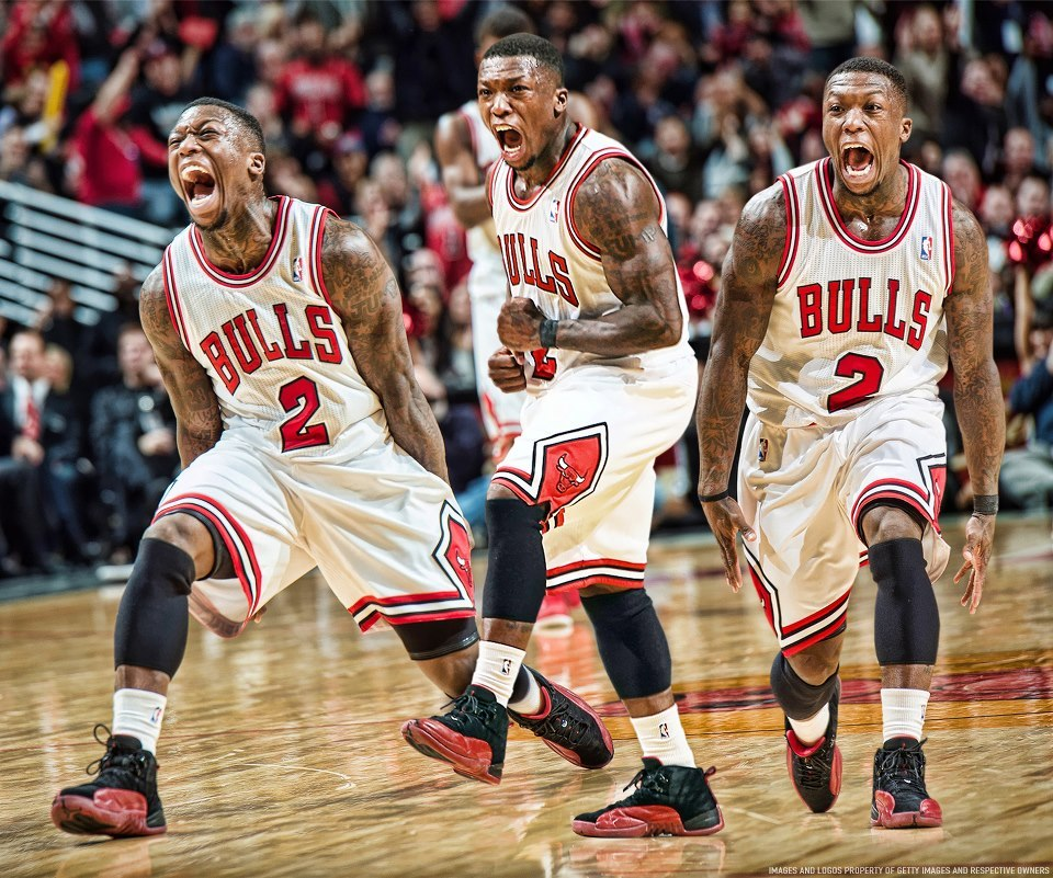 bg5000:  axelrod:  Oh my! Chicago Bulls! Little Nate Robinson, he gets six stitches and elevates his game to the NEXT FUCKING LEVEL. Get it boys!!!!!  Oh my fucking god, i'm still in shock. I'm buying a Nate Robinson jersey next pay day, no matter what the outcome of the series is.