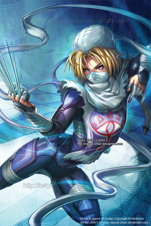 4evernoob:  Sheik - Legend of Zelda by ~nayuki-chan