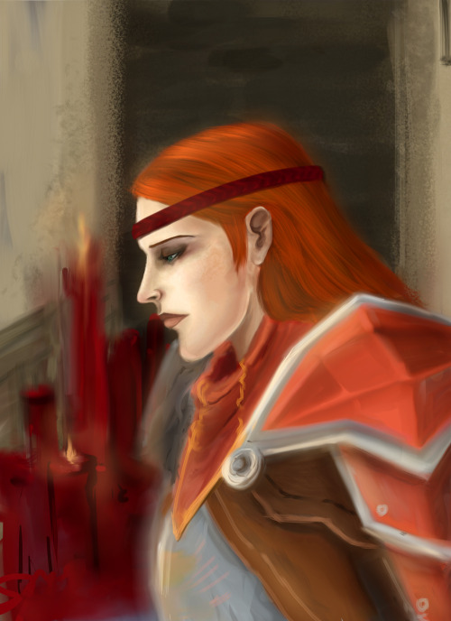 foxghost:  Aveline looking for Wesley's name on the memorial wall.  I love her face so much.