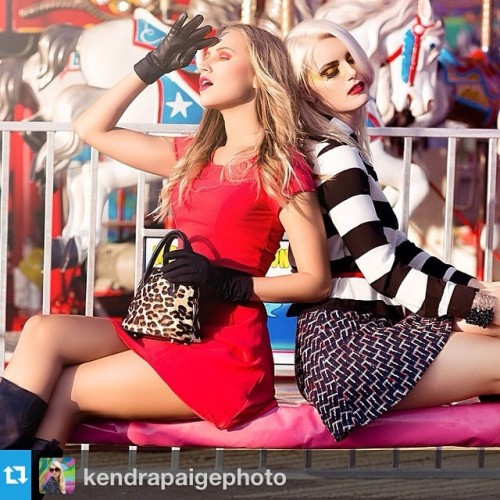 fab-genny-b:  #flashbackfriday #Repost from @kendrapaigephoto —-Paradise Circus II. Models: @yanapoly & @jcmoccia   Stylist: @luxeartgen   MUAH: @beauties_to_beasts   Photo: @kendrapaigephoto  #fashion #fashionista #fashionista #potd #style #street #miami #ootd #dress #purse #gloves #carnival #canon #naturallight #kendrapaige
