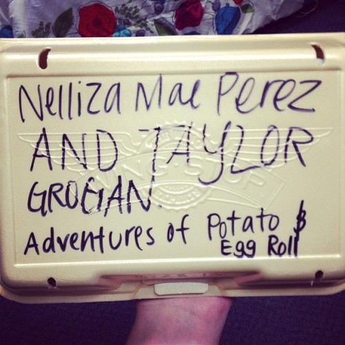 Bringin' back the glory days of Potato and Egg Roll 😱👍 @nellizamae