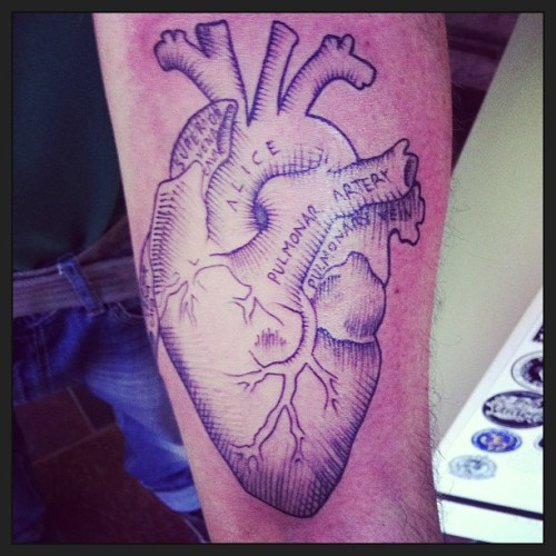 #ink #tattoo #heart #traditional