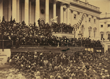 Hendrik Hertzberg looks at the allusions to Lincoln, Kennedy, and Martin Luther King Jr. in President Obama's second inaugural speech: http://nyr.kr/WkhLWs   Photograph of Lincoln's second Inaugural Address by Alexander Gardner/Courtesy Library of Congress.